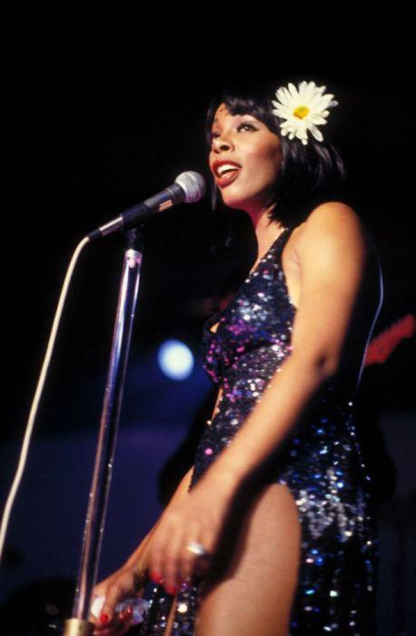 Выступление Донны Саммер (Donna Summer) на концерте в Вашингтоне в 1978-м году.
