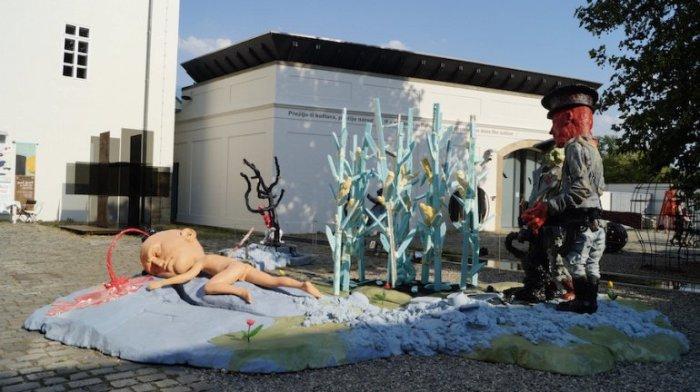 Один из самых молодых музеев современного искусства находится в реконструированном историческом здании Сововых Мельниц.