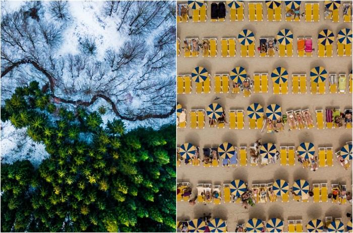 Головокружительные фотографии, снятые с помощью дронов.