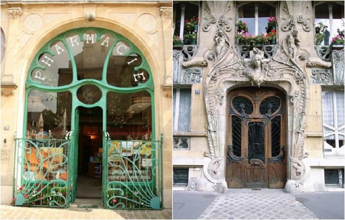 Элегантные входные двери в стиле ар-нуво.