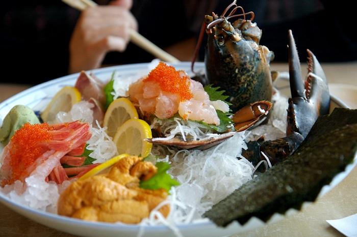 Блюдо азиатской кухни.