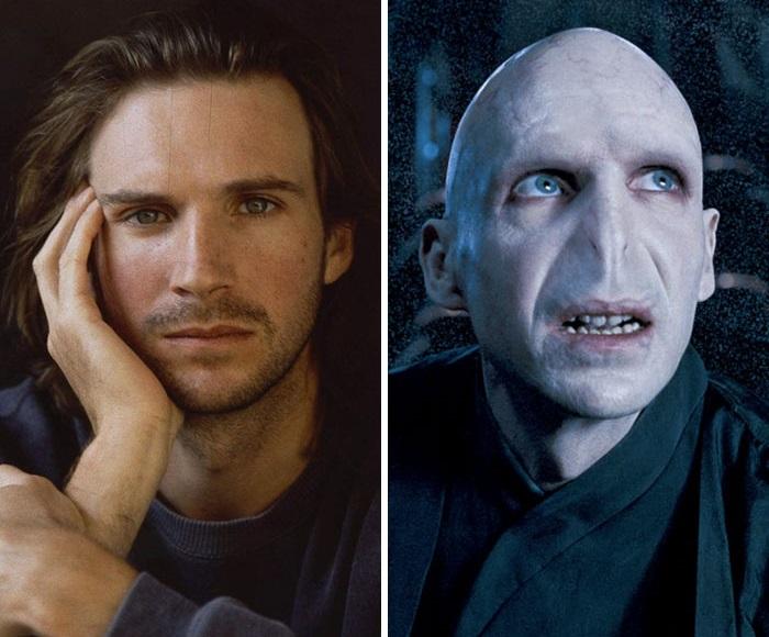 Британскому актеру, исполнившему роль злодея Волан-де-Морта в серии фильмов про Гарри Поттера, выбелили кожу, сбрили брови и добавили змеиный нос.