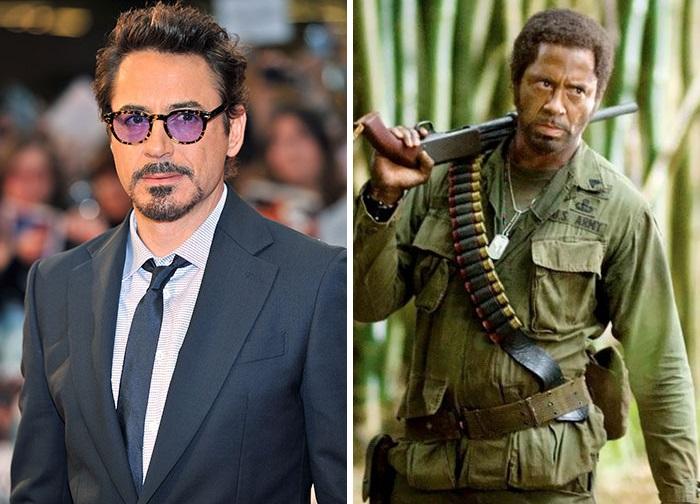 Американского актера довольно сложно узнать в таком необычном гриме, который пришлось использовать для съемок в фильме «Солдаты неудачи».