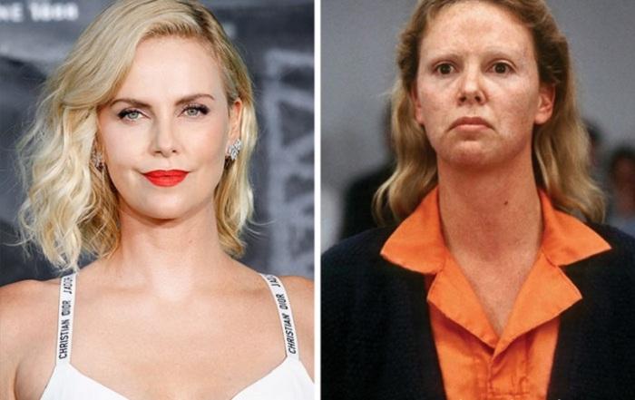 Американская актриса основательно подготовилась к роли серийной убийцы Эйлин в криминальном фильме «Монстр» - прибавила весе 10 килограмм и изуродовала лицо гримом.