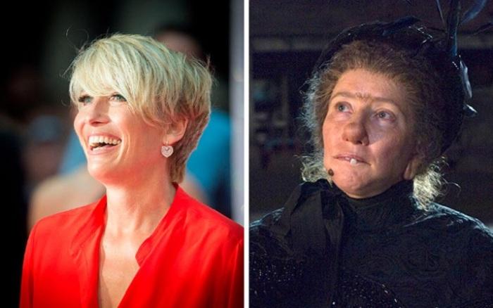 Британскую актрису, сыгравшую роль Нэнни МакФи - воспитательницы с магическими способностями в фильме «Моя ужасная няня 2», совершенно не узнать из-за грима.