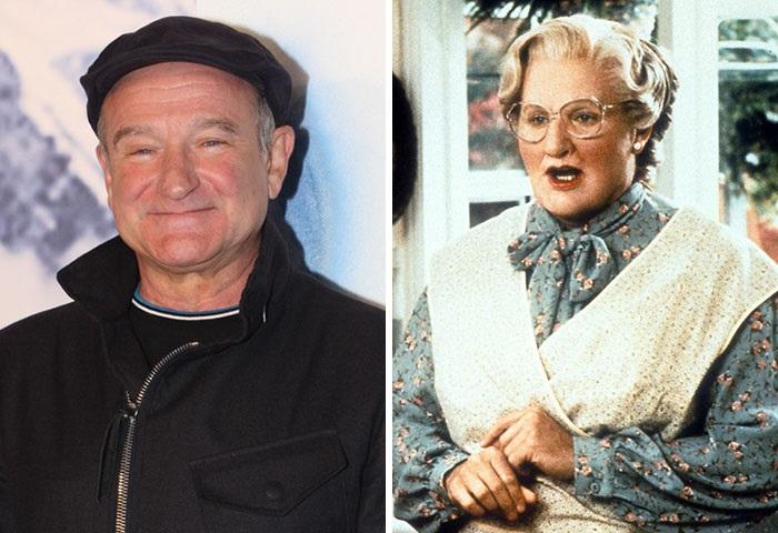 Американский актер довольно убедительно сыграл роль миссис Даутфайр в одноименной комедии, вышедшей в 1993 году.