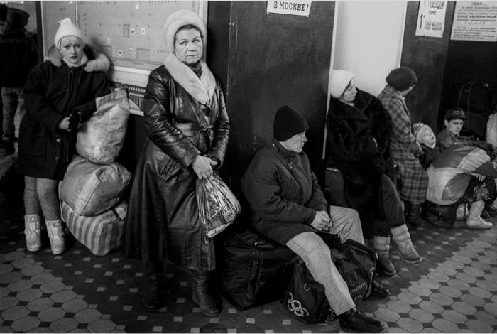 Зал ожидания на станции Новосибирск-Главный.