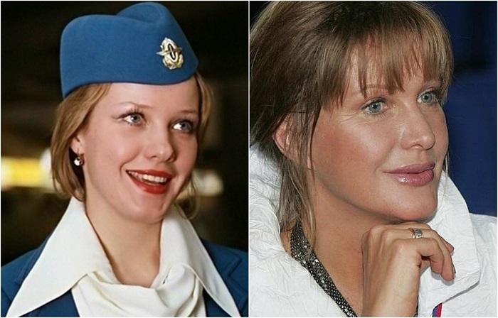 Российская актриса Елена Проклова исполнила небольшую, но яркую роль - ту самую стюардессу Ларису Ивановну.