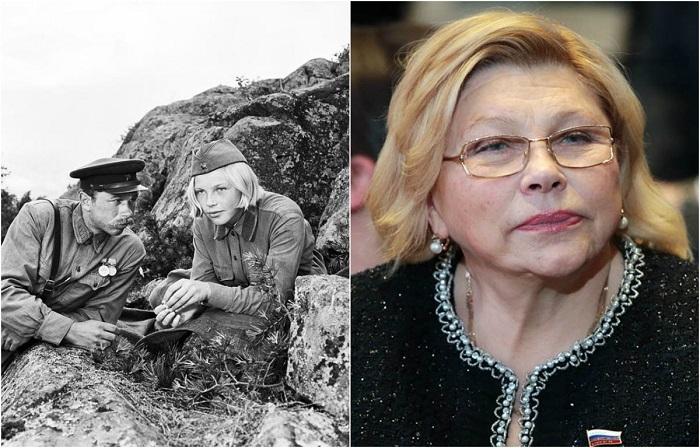 Популярная актриса кино и театра, звезда фильма «А зори здесь тихие», с 90-х годов занимается политической деятельностью.