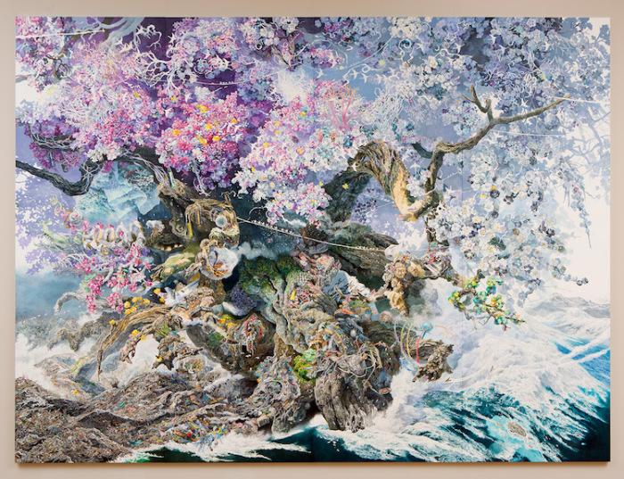 На написание картины цветными ручками у художника ушло 3,5 года.