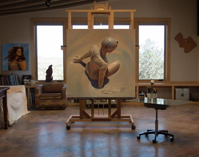 Художник создает удивительно фотореалистичные картины.