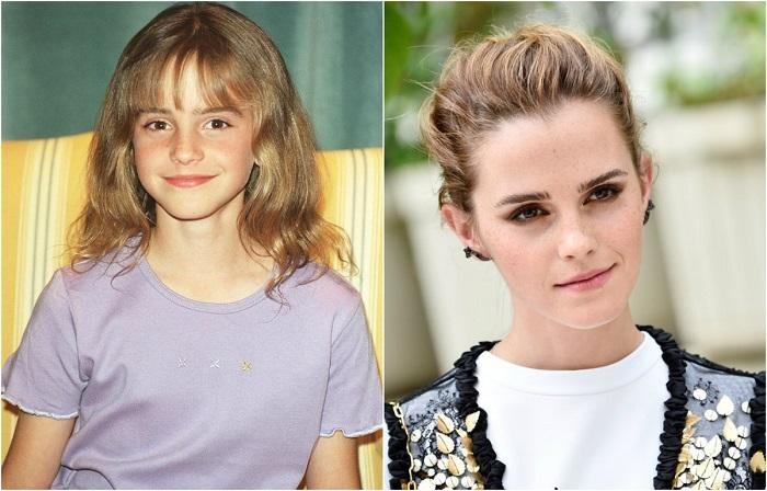11-летняя Эмма Уотсон в 11 лет проснулась знаменитой после премьеры фильма «Гарри Поттер и философский камень».
