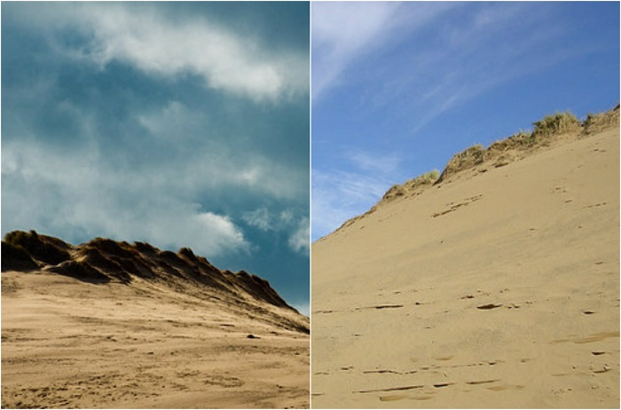 Песчаные дюны на юго-западе Англии.