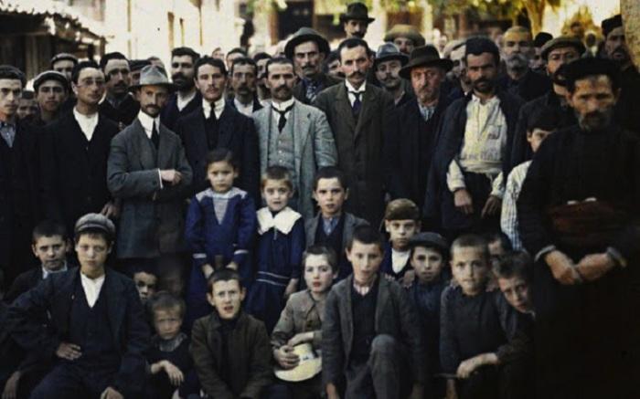 Греческие беженцы на Балканах, 1913 год.