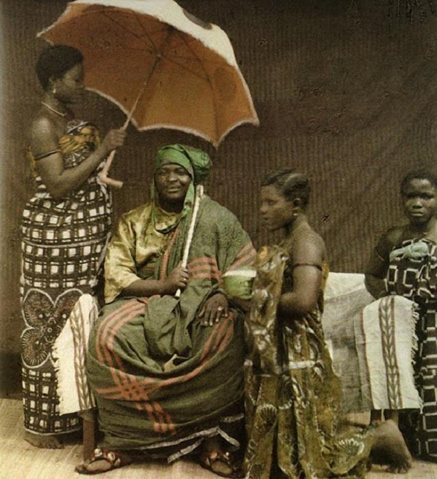Жители Дагомеи (в настоящее время Бенин), фотограф Фредерик Gadmer, 1920 год.