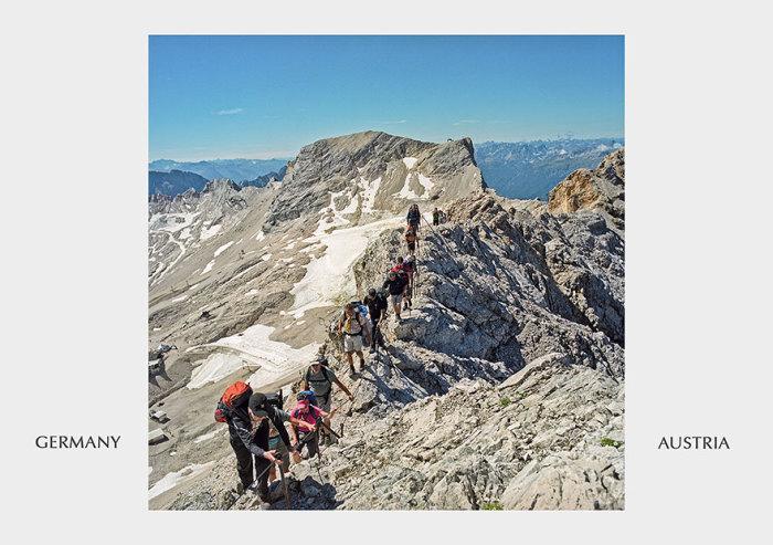 Горная прогулка из одной страны в другую по горе Берхтесгаден.