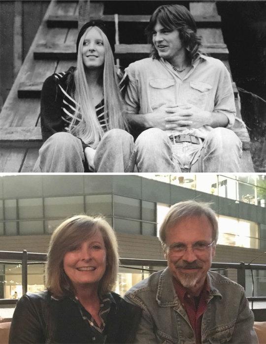Супружеская пара спустя 40 лет – даже улыбки остались такими же.