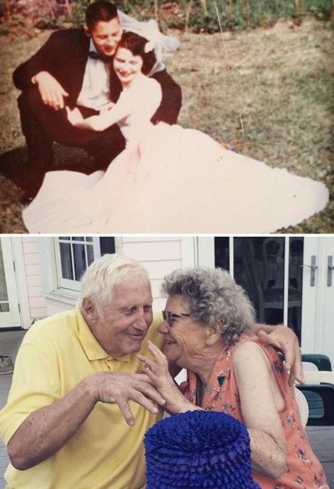 «Мои дедушка и бабушка через 60 лет совместной жизни все так же любят друг друга».