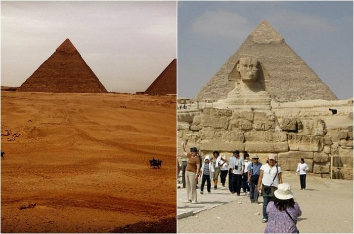 Крупнейшая из египетских пирамид, единственное из «Семи чудес света», сохранившееся до наших дней.