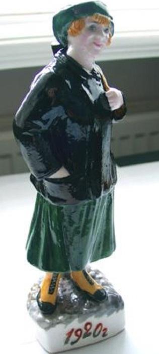 Статуэтка Н.Я. Данько, посвящена служившим в милиции женщинам, 1920 год.