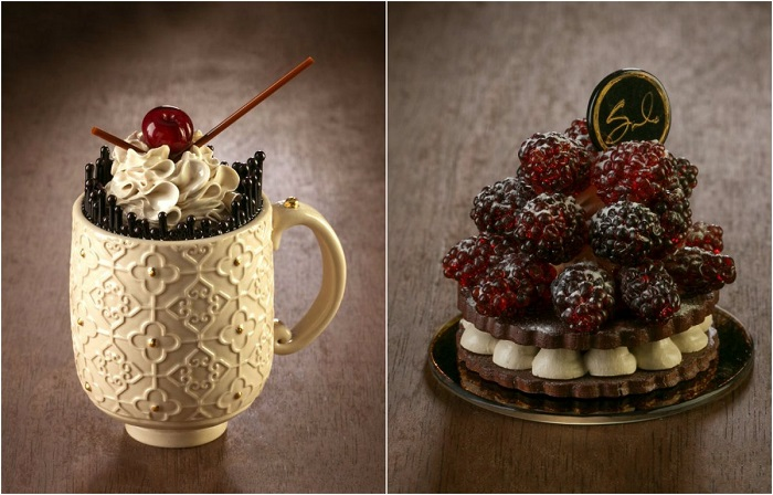 Аппетитные десерты из стекла и фарфора.