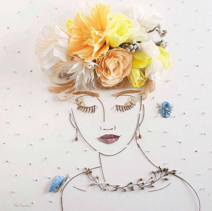 Засохшие цветы в умелых руках мастера приобретают высококультурное значение.