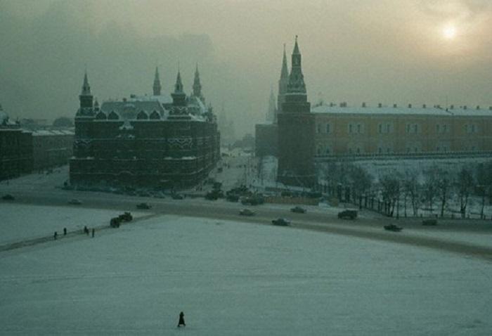 Вид на Красную площадь зимой, 1967 год.