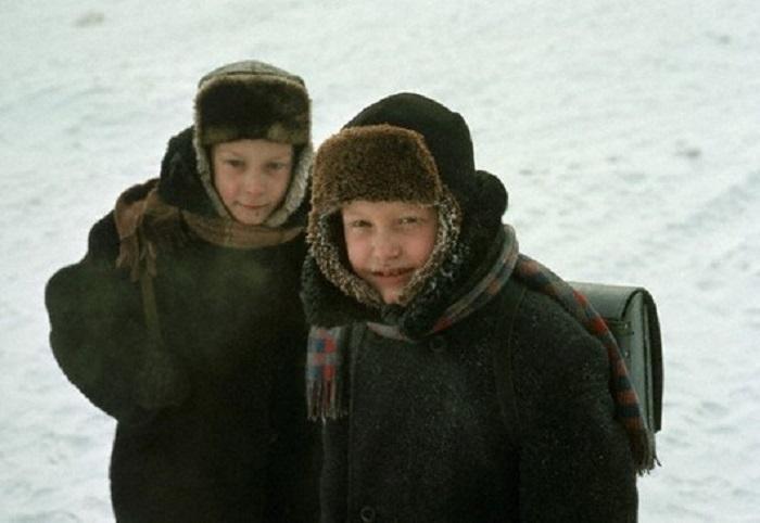 Школьники в Иркутске, 1966 год.