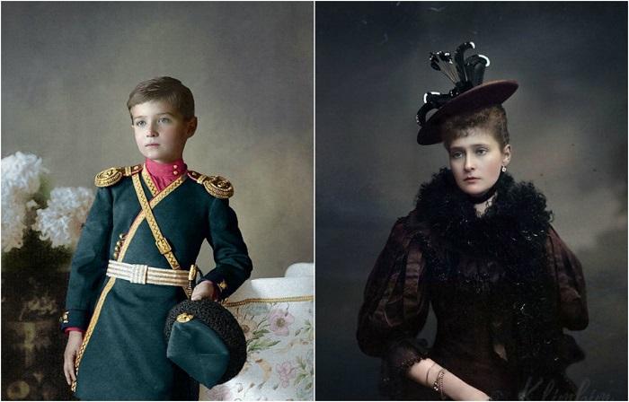 Реалистично раскрашенные исторические снимки.