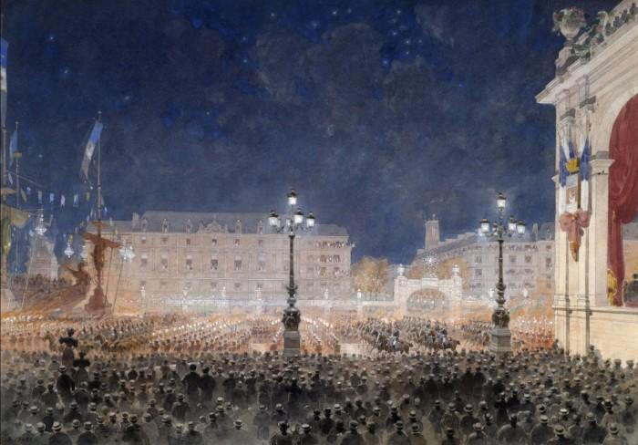 Торжественный прием и праздничные гулянья около мэрии. 19 октября 1893 года.