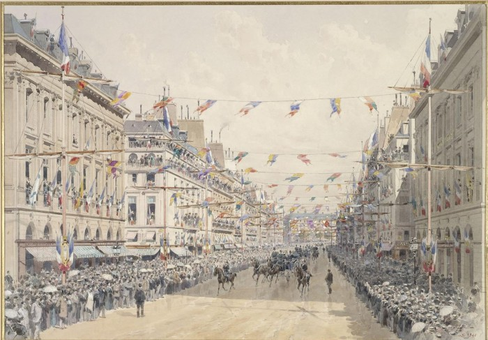 Парад в рамках франко-российских торжеств по случаю прибытия российской экскадры. 20 октября 1893 года.