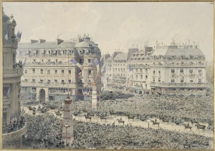 Парад проходит по площади Оперы. 20 октября 1893 года.