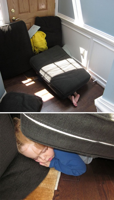 Я так долго пряталась-что уснула.