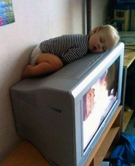 Экстремальный сон младенца.