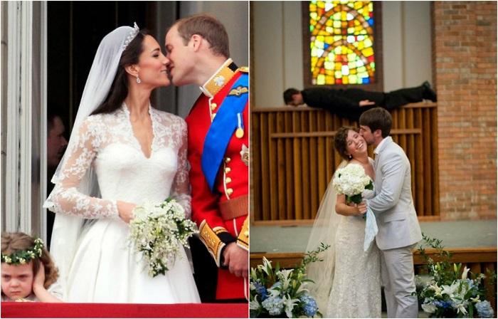 Курьезные свадебные фотографии.