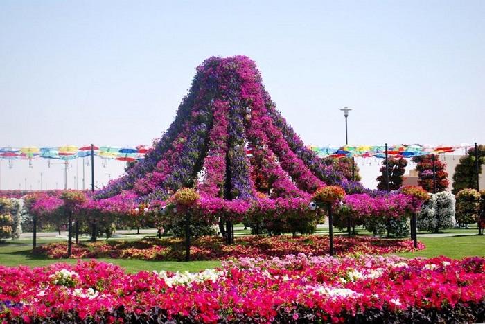 Купол из множества цветов.