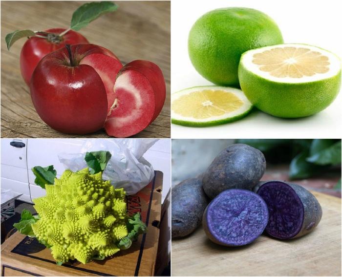 Экзотические фрукты, ягоды и овощи.
