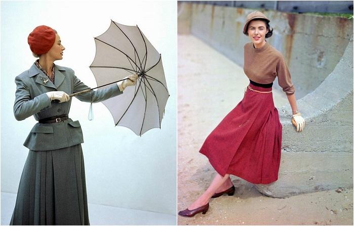 Такая современная мода 1940-х.