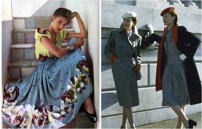 Гламурные девушки на обложках журналов 1940-х годов.
