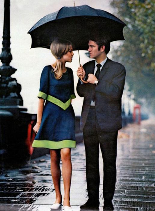 Снимок сделан в Лондоне для журнала мод, 1966 год.