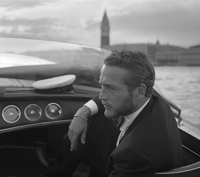 Американский актер Пол Ньюман в Венеции, 1963 год.