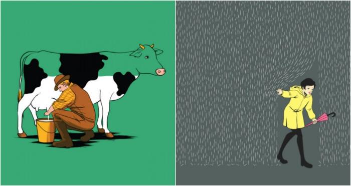 Тонкое чувство юмора в забавных иллюстрациях.