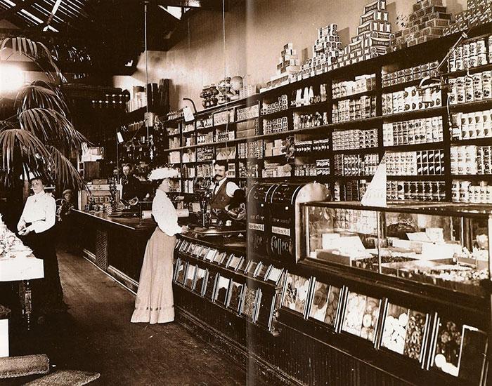 Продуктовый магазин конца 19 века, США.