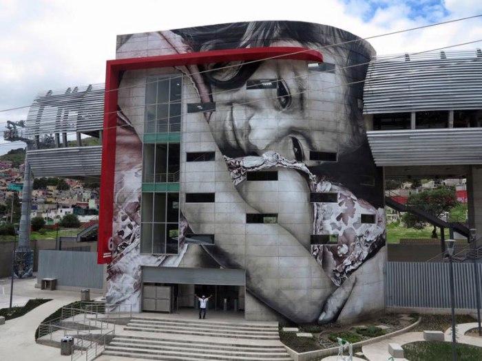 Портрет, покрывающий целое здание.