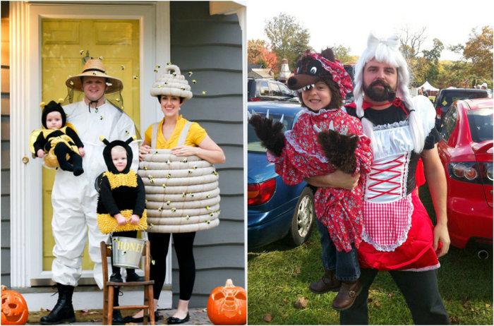 Необычные костюмы к празднику.