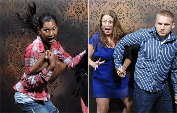 Забавные снимки, сделанные скрытой камерой на «Фабрике ночных кошмаров».