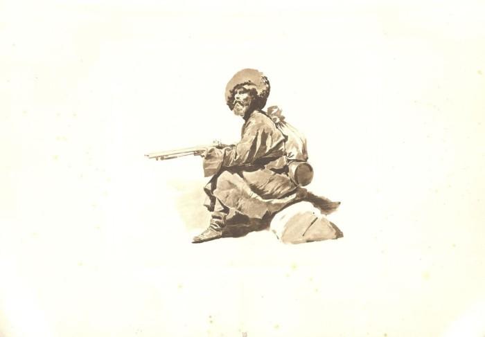 Ружье, обувь и кинжал - три вещи, без которых нельзя было прожить в горах охотнику.