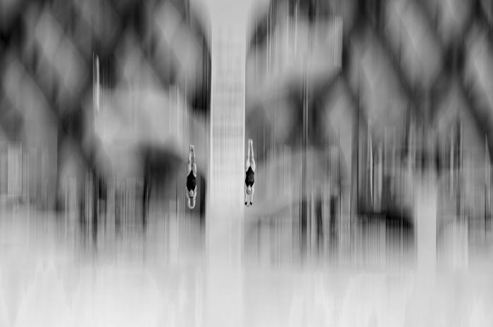 Прыжки в воду. Автор фотографии: Алексей Мальгавко, Россия, г. Омск.