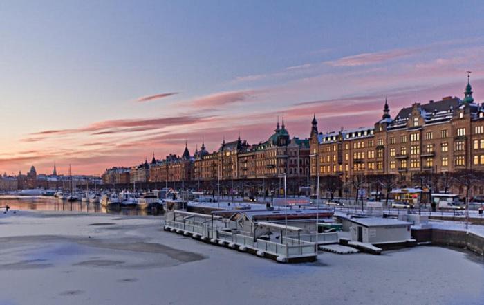 Набережная Страндвеген считается самой престижной улицей Стокгольма.