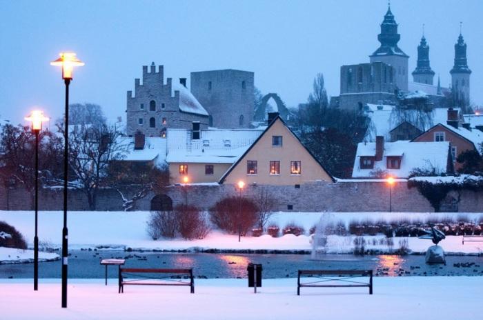 Наиболее сохранившийся средневековый город в Скандинавии.